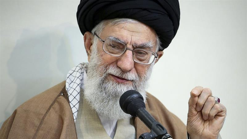 Iran's Supreme Leader Ayatollah Ali Khamenei has criticised the Iranian government for the failed nuclear deal, writers Torfeh [AP]