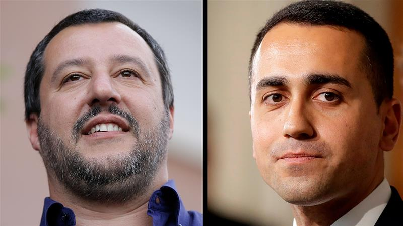 The League's Matteo Salvini and the Five Star's Luigi Di Maio have entered into coalition to form a government in Italy [AP]
