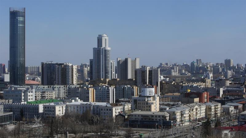 Yekaterinburg, in west-central Russia, is the country's fourth-largest city [Sergei Karpukhin/Reuters]
