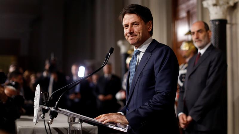 Giuseppe Conte is a 54-year-old university professor with little political experience [Alessandro Bianchi/Reuters]
