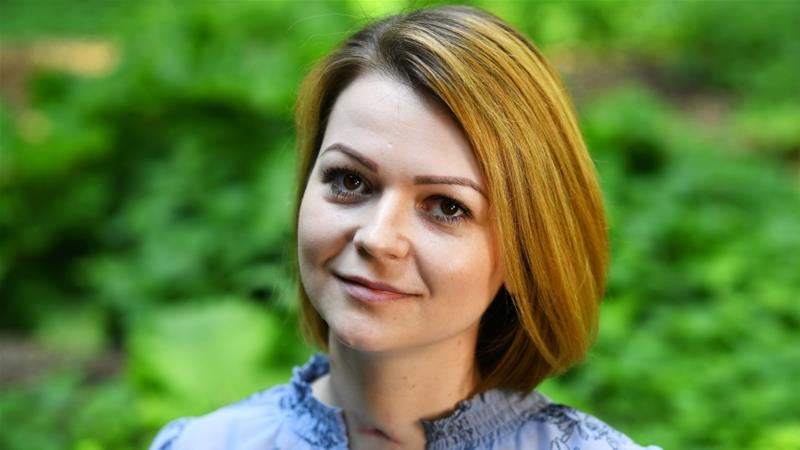 Yulia Skripal said she and her father are lucky to have 'survive this attempted assassination' [Dylan Martinez/Reuters]