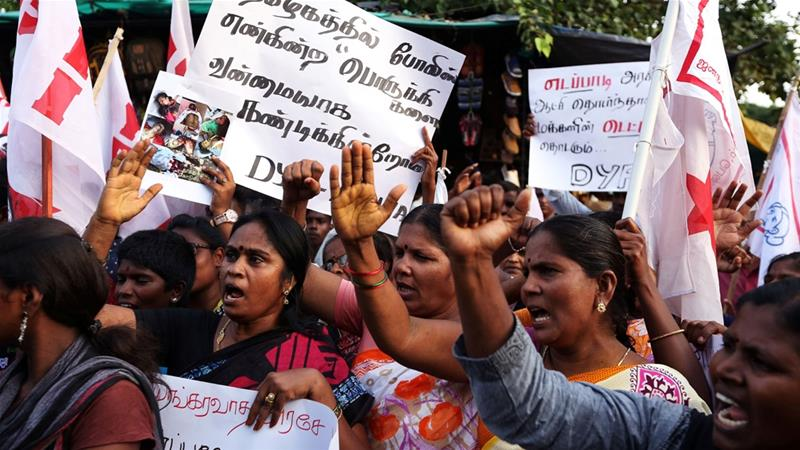 Protests over environmental contamination from a copper smelter in Thootukudi turned deadly on Tuesday [P Ravikumar/Reuters]