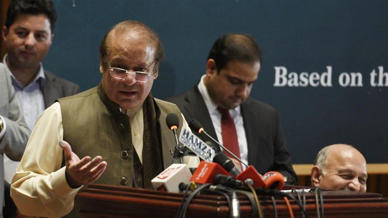 Sharif was dismissed from office by the Supreme Court in July over a wealth declaration omission [T Mughal/EPA-EFE]