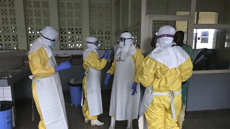 Twenty-seven people in DRC have died this month from the Ebola outbreak [Louise Annaud/Medecins Sans Frontieres via AP]