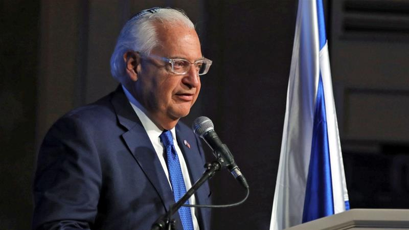 Staunchly pro-Israel, Friedman has close ties to the occupied West Bank settler movement [Ammar Awad/Reuters]