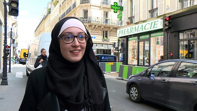 Pougetoux says her scarf is a symbol of her faith and not a political statement [AFP]