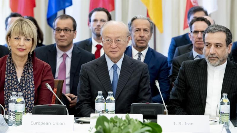 European, Chinese, Russian and Iranian delegates met in Vienna for talks [Joe Klamar/AFP]