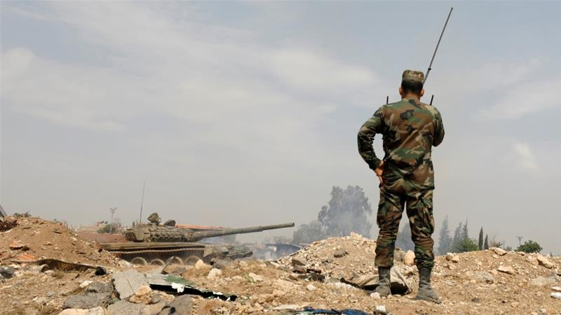 The Syrian army is reportedly sending reinforcements to southern Syria in an apparent preparation for an offensive [File: Omar Sanadiki/Reuters]