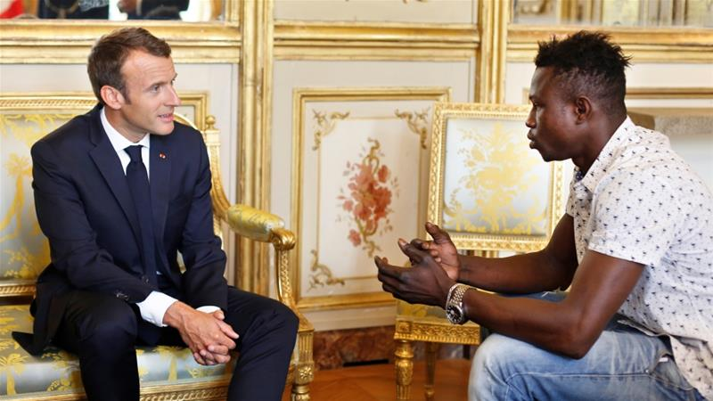 Image result for Malian Migrant 'spiderman' Who Saved Child Rewarded By France's President