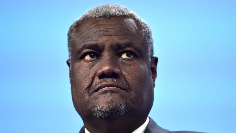 Moussa Faki Mahamat urged 'all concerned actors' to avoid any action that might undermine progress in Somalia [Eric Vidal/Reuters]