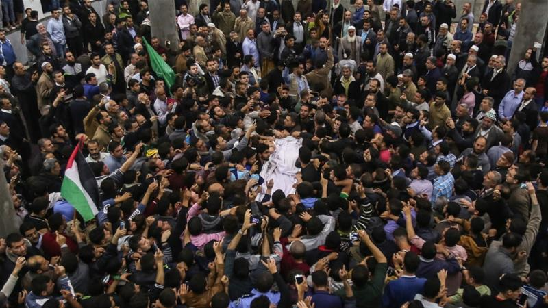 The body of Hamas member Fadi al-Batsch, killed in Malaysia, arrives in Gaza in April [Ali Jadallah/Anadolu]