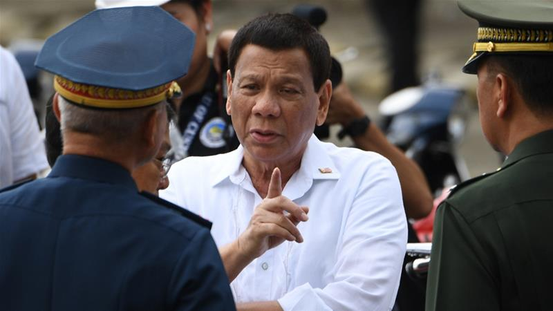 "Palace officials have repeatedly defended Duterte's comments on women as ""jokes"" [File: AFP]"