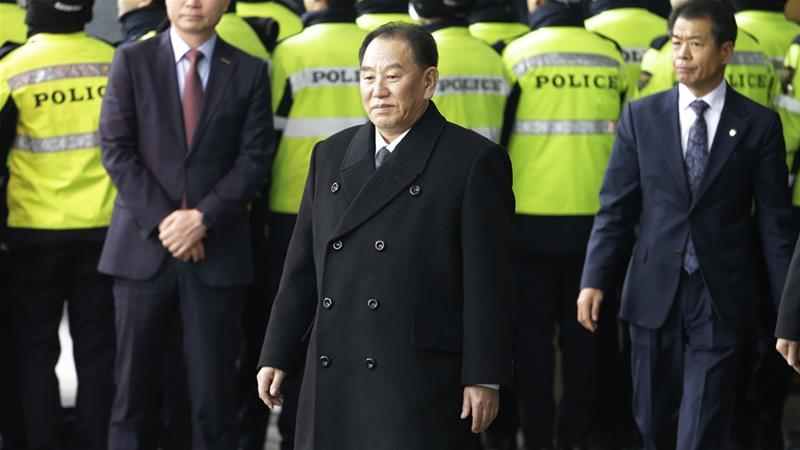 Kim Yong Chol touched down in New York City on Wednesday afternoon