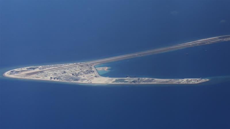 In February, it was reported that China has built naval and air facilities in several areas in the Spratlys [File: AP]