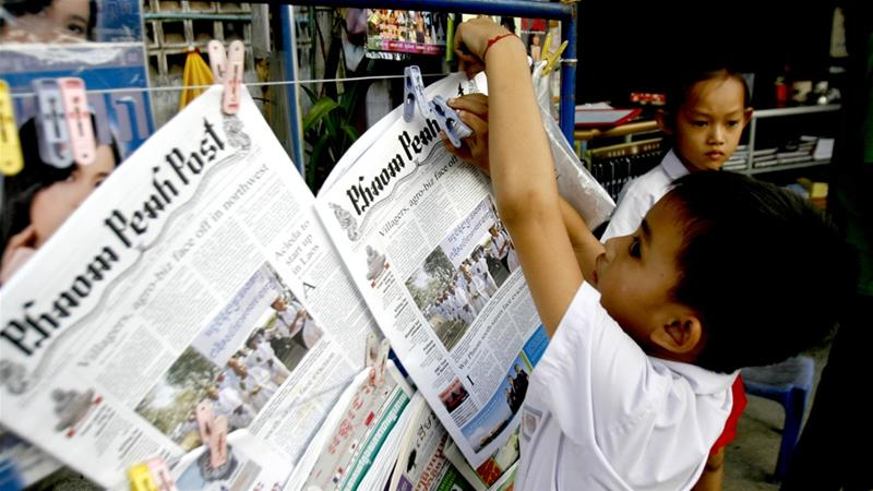Rights group slams sale of Cambodian newspaper
