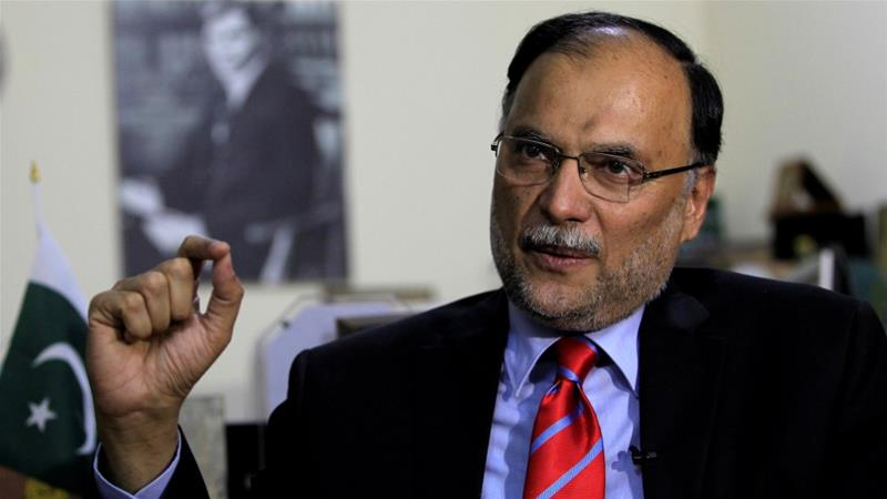Ahsan Iqbal, 59, was made interior minister last year [File: Caren Firouz/Reuters]