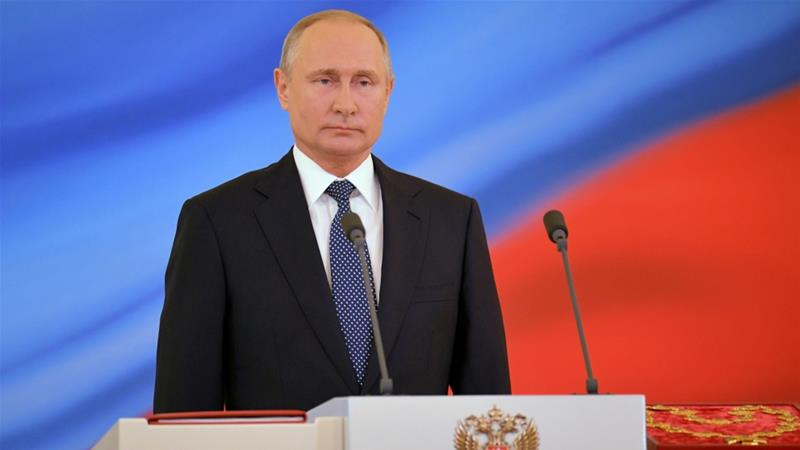 Putin sworn in as Russian president for fourth term