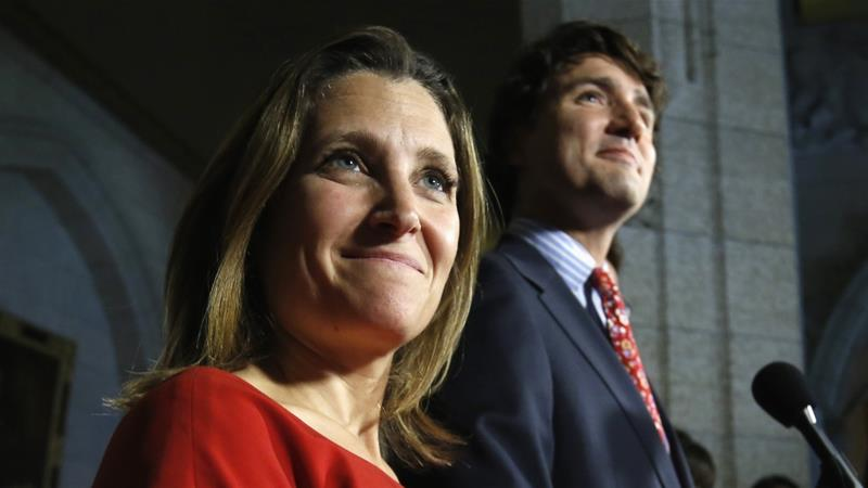 "Trudeau and Freeland believe that Israel has the ""right"" to kill as many Palestinians as it wants to, whenever it wants to, for whatever reason it wants to, writes Mitrovica [Reuters]"