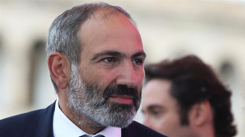 Pashinyan has experienced a meteoric rise in popularity in recent weeks [Vahram Baghdasaryan/Reuters]