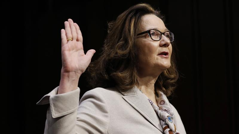 Haspel is facing opposition over her role in torture at a secret CIA prison in 2002 [Aaron P Bernstein/Reuters]