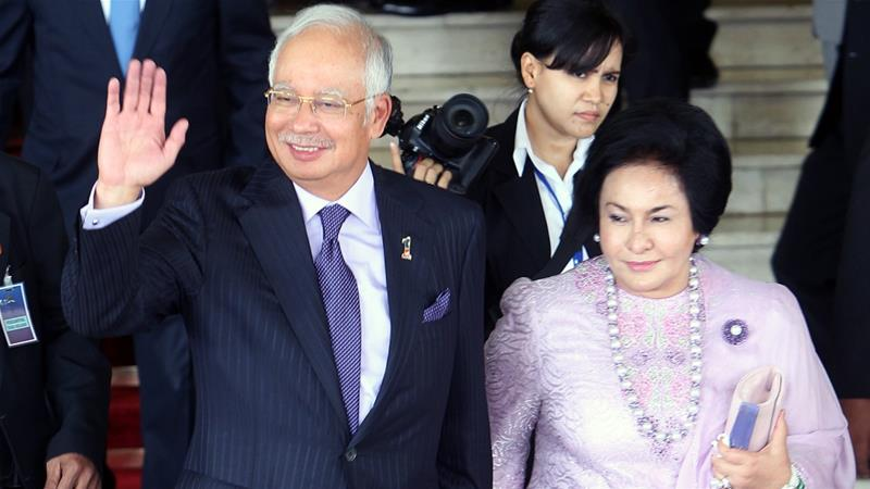 Rosmah and her husband, former prime minister Najib, have been barred from leaving the country [File: EPA]