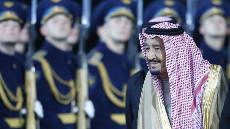 The Saudi monarch reportedly asked France to increase its pressure on Qatar [File: Sergei Chirikov/EPA-EFE]
