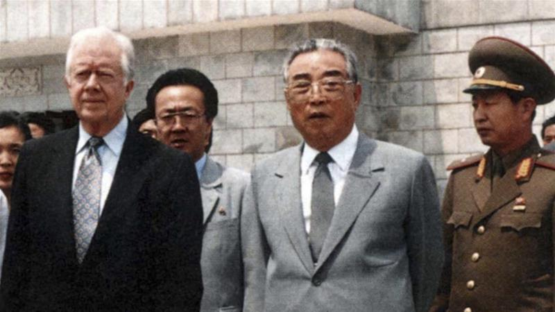 Image result for jimmy carter with Kim Il-sung
