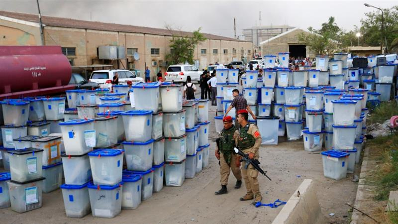 Iraqi authorities said the ballot boxes were saved but the fire has added to fears of violence [Reuters]