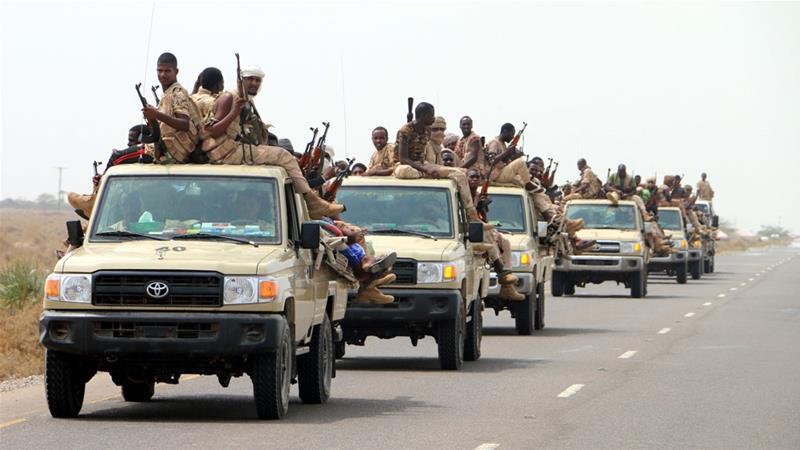 Pasukan Sudan turut serta sebagai milisi dalam penyerangan Houthi yang dikendalikan oleh Arab Saudi dan Uni Emirat Arab.