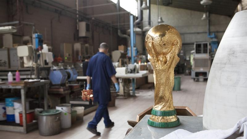GDE Bertoni, where the football world cup trophy is made