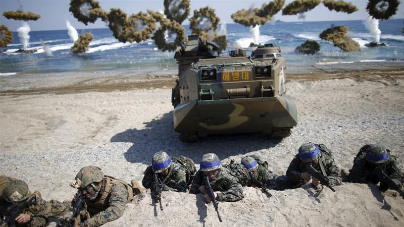 US troops in SKorea not part of talks
