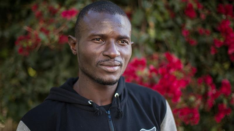 Kombo Yannick is one of many Cameroonian migrants who have travelled through Latin America in order to apply for asylum in the United States [Walker Dawson/Al Jazeera]
