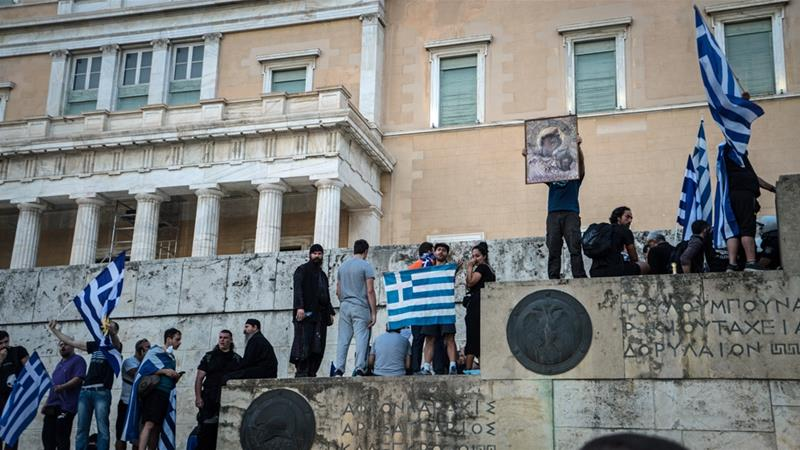 Protests in Greece as Macedonia is renamed after 27-year row