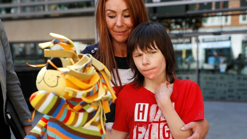 Billy Caldwell suffered seizures after officials took away his prescribed cannabis [Peter Nicholls/Reuters]
