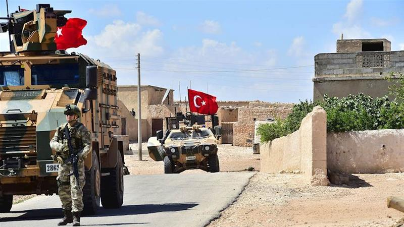 Turkish and USA forces begin patrols near Syrian town