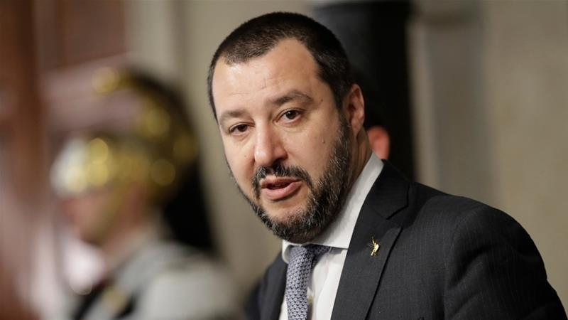 Italy's Salvini vows to end migrant arrivals by boat