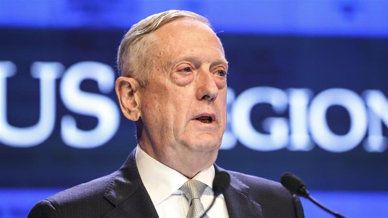 Mattis' cmments come on the heels of a string of events that highlight tension between the world's two biggest economies over the South China Sea's disputed waters [Yong Teck Lim/AP Photo]