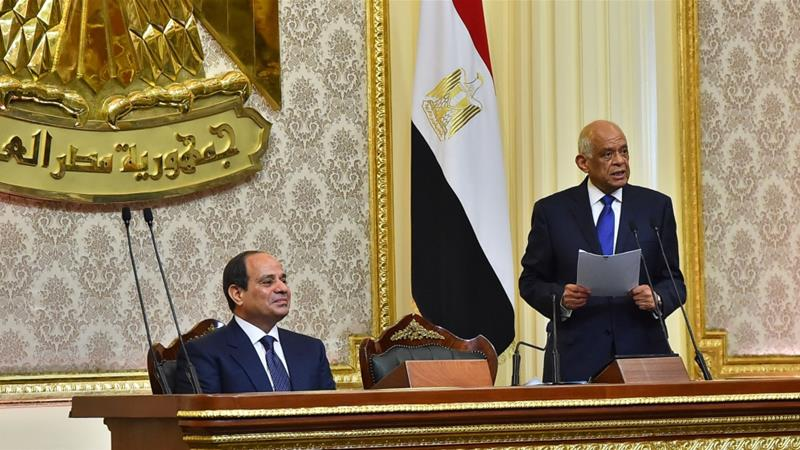 The elections were criticised as a one-man show with no credible opposition [Handout/Egytian Presidency/AFP]