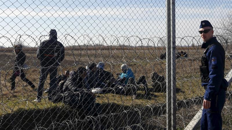To stop refugees from entering the country, Hungary has built a fence on the Hungary-Serbia border [Laszlo Balogh/Reuters]