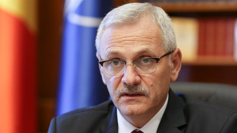 Social Democratic Party leader Liviu Dragnea was sentenced to three-and-a-half years in prison [Reuters]
