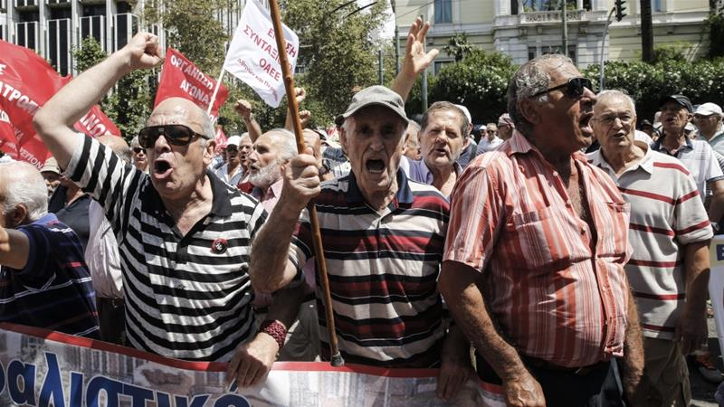 Retirees march against austerity measures in Greece [Anadolu]