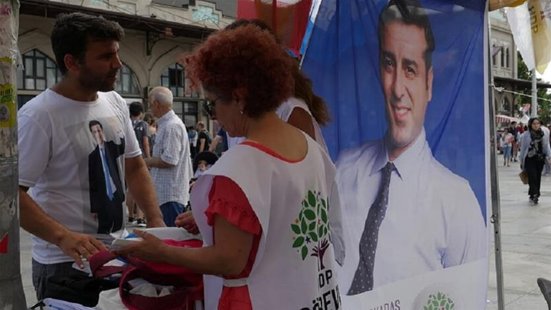 Demirtas says he will back any other candidate that will run against Erdogan in a possible second round of voting [Cagan Orhon/Al Jazeera]