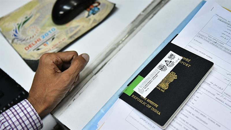 A Hindu woman said an Indian passport official insulted her for her marriage to a Muslim man [File: Anindito Mukherjee/Bloomberg via Getty Images]