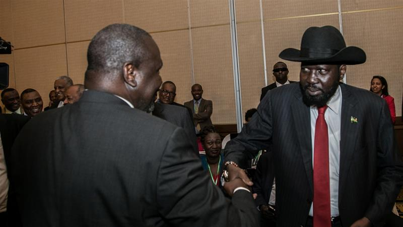 The meeting in Khartoum will be the first time Kiir and Machar have met in the Sudanese capital since 2013 [Reuters]