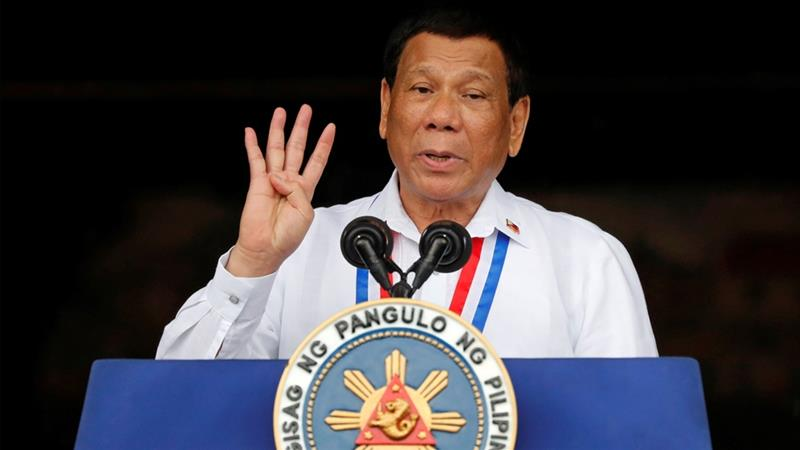 Duterte has repeatedly said the Catholic Church has no moral authority to criticise him [File: Reuters]