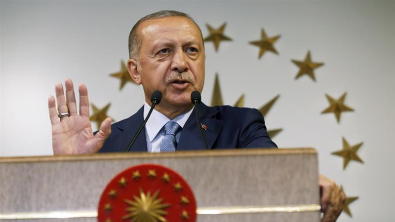 Erdogan said the killing of civilians would empower 'terrorist' groups [File: AP]
