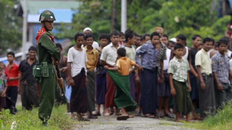 Myanmar is accused of waging a crackdown in Rakhine state that forced 700,000 Rohingya to flee to Bangladesh [Reuters]