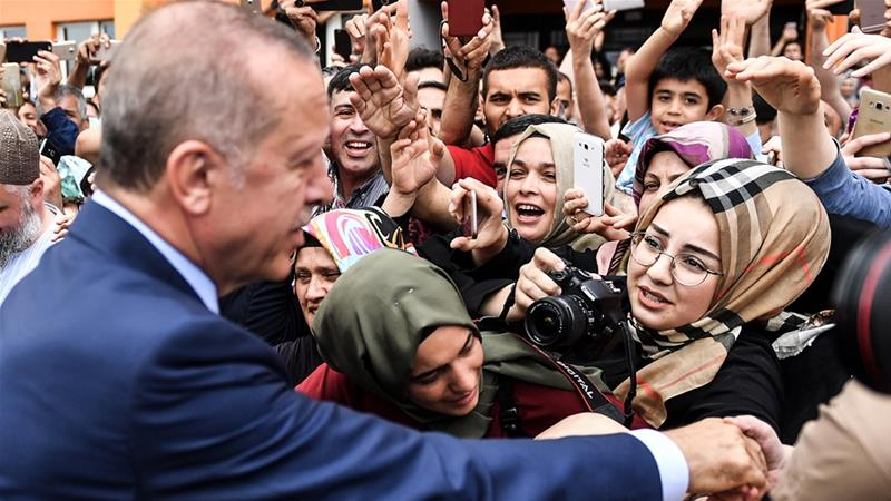 Erdogan has been in power as prime minister or president for over 15 years [AFP]