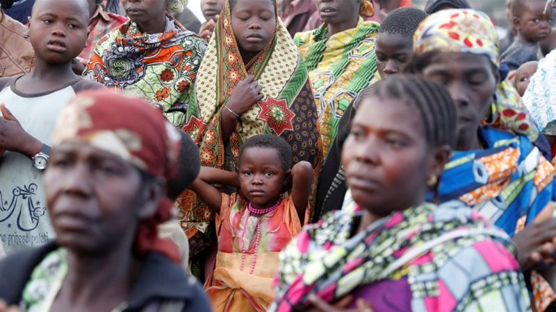 Internally displaced women and children in a camp in Bunia, Ituri province, eastern Democratic Republic of Congo [File: Goran Tomasevic/Reuters]