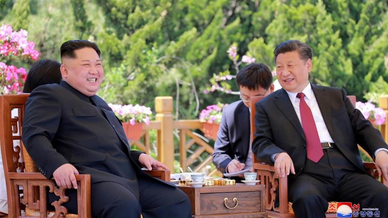 North Korean leader Kim Jong Un met China's President Xi Jinping three times in less than 100 days [Reuters]